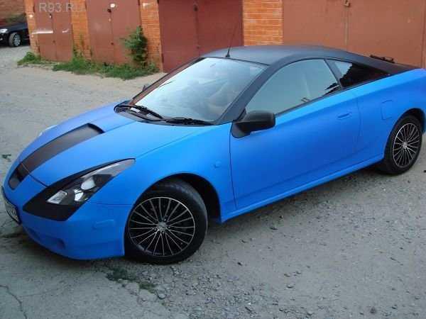 Авто покрытое жидкой резиной синего цвета