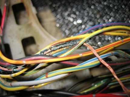 перетертые провода