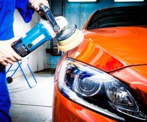 полировка оранжевой машины