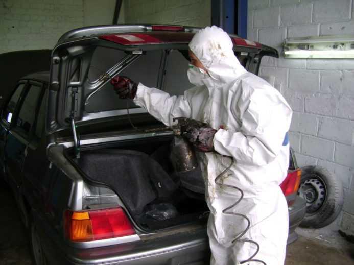обработка кузова авто антикором