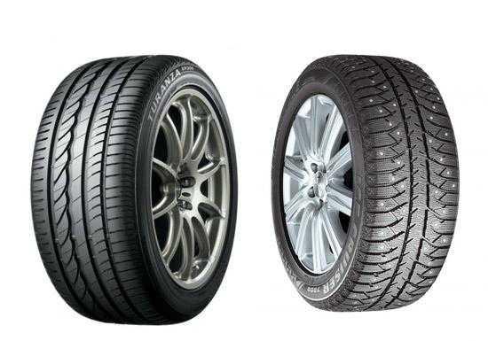 два колеса с зимней резиной