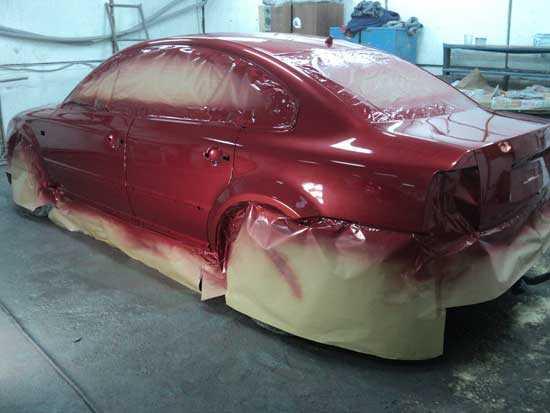 покраска автов карасный цвет