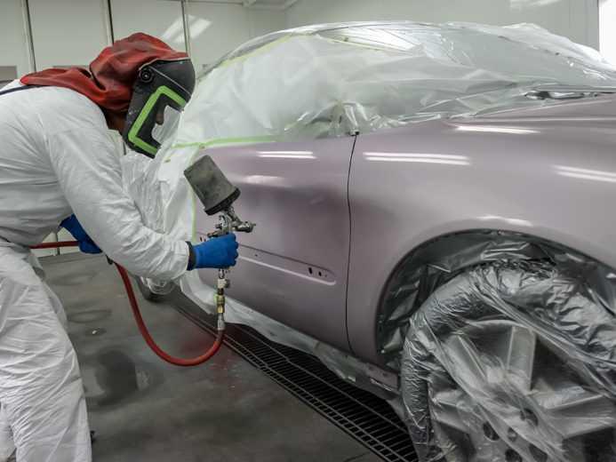 покраска авто краскопультом